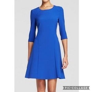 EUC Hugo Boss Blue 1/2 Sleeve Dasona Career Dress